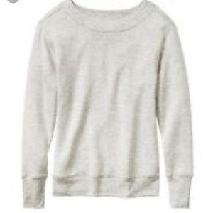 Athleta boatneck French Terry sweatshirt gray xL
